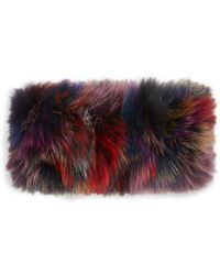 Adrienne Landau - Knit Fox Fur Headband - Lyst