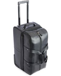 Royce - Pebbled Leather Carry-on Rolling Duffel Bag - Lyst