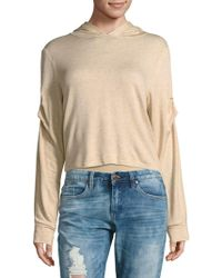 Project Social T - Ruched Hooded Sweater - Lyst
