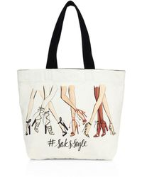 Saks Fifth Avenue - #saksstyle Leg-print Canvas Tote - Lyst