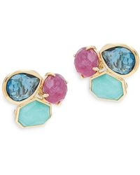 Ippolita - Rock Candy Multi-stone And 18k Gold Clip-on Earrings - Lyst