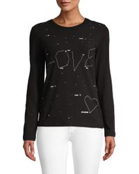 Love Moschino - Embellished Graphic Tee - Lyst