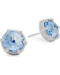 Judith Ripka - Eclipse Sterling Silver Stud Earrings - Lyst