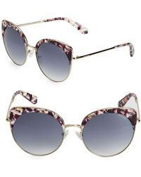 f903ea44f3 Lyst - Balmain 60mm Cat Eye Sunglasses in Brown