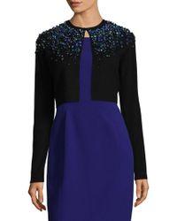 Elie Tahari - Embellished Merino Wool Cardigan - Lyst