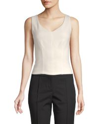 Adam Lippes - Solid V-neck Top - Lyst