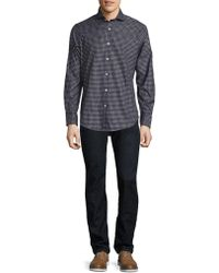 Ralph Lauren Blue Label - Checked Cotton Twill Button-down Shirt - Lyst
