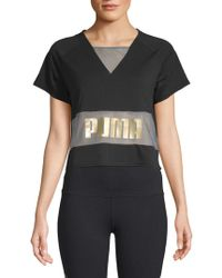 PUMA - Exposed Cropped Tee - Lyst