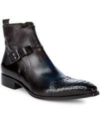 Jo Ghost - Buckle Leather Ankle Boots - Lyst
