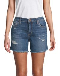 Joe's Jeans - Maddie Distressed Shorts - Lyst