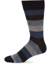 Saks Fifth Avenue - Colorblock Crew Socks - Lyst