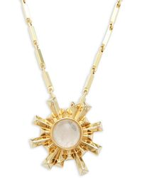 Eddie Borgo | Sunburst 12k Gold-plated Pendant Necklace | Lyst