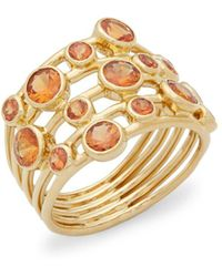 Ippolita - Glamazon Dark Orange Sapphire And 18k Gold Stardust Constellation Ring - Lyst