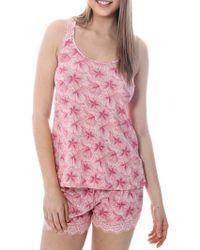 Catherine Malandrino - Lace-trimmed Tank And Shorts Pajama Set - Lyst