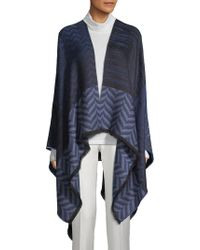 Missoni - Chevron Knitted Cape - Lyst