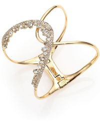 Alexis Bittar - Miss Havisham Liquid Pavé Crystal Jagged Wave Cuff Bracelet - Lyst