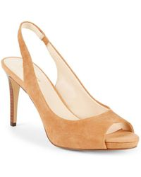 Nine West - Known As Suede Slingback Court Shoes - Lyst
