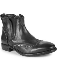 John Varvatos - Fleetwood Wing-tip Leather Chelsea Boots - Lyst