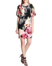 CALVIN KLEIN 205W39NYC - Shirred Floral Sheath Dress - Lyst