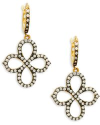Freida Rothman - Pointed Clover Drop Earrings - Lyst