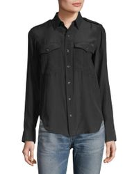 Mother - Casual Silk Button-down Shirt - Lyst