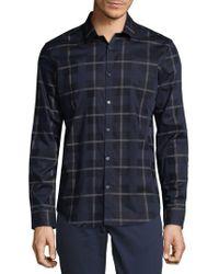 Calvin Klein - Yarn-dye Largescale Plaid Shirt - Lyst