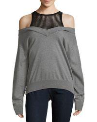Lea & Viola - Cold-shoulder Cotton Sweater - Lyst