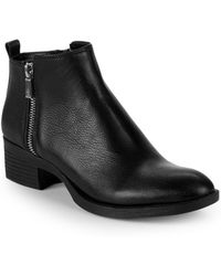 Kenneth Cole - Leather Zip Chelsea Boots - Lyst