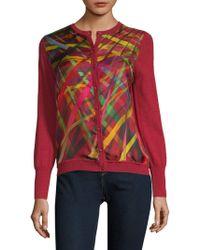 ESCADA - Printed Wool & Silk Cardigan - Lyst