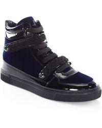 Louis Leeman - Braid Buckle Leather High-top Sneakers - Lyst