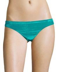 Trina Turk - Midnight Velvet Bikini Bottom - Lyst