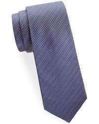 Saks Fifth Avenue - Silk Square Dot Tie - Lyst