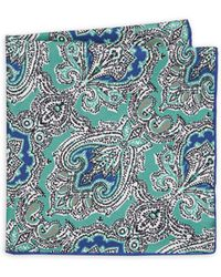 Luciano Barbera - Paisley Silk Pocket Square - Lyst