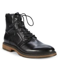 6e8e47cc829166 Saks Fifth Avenue - Baylor Leather Combat Boots - Lyst