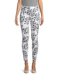 Hue - Abstract Floral-print Trousers - Lyst