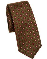 Kiton - Silk Square-print Tie - Lyst