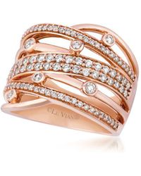 Le Vian - Chocolatier® Vanilla Diamonds® &strawberry Gold® Gladiator Weave Ring - Lyst