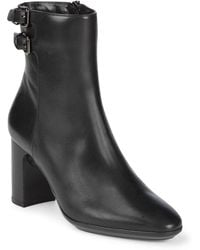 Aquatalia - Two-buckle Leather Ankle Boots - Lyst