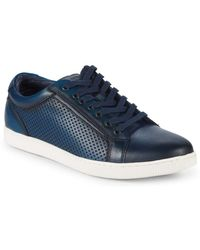 Steve Madden - Perforated Leather Low-top Sneakers - Lyst
