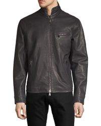 John Varvatos - Full-zip Leather Jacket - Lyst