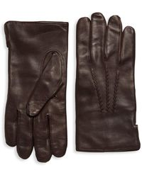Saks Fifth Avenue - Slip-on Leather Gloves - Lyst