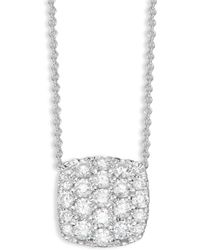 Saks Fifth Avenue - 14k White Gold & Pave Diamond Pendant Necklace - Lyst