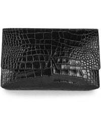 Vince - Signature Collection Medium Crocodile-embossed Leather Clutch - Lyst