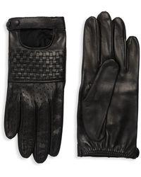 Portolano - Basket Weave Leather Gloves - Lyst