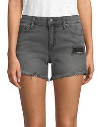 Joe's - Rachel Frayed Denim Shorts - Lyst