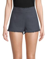 Lucca Couture - Melissa Fringed Shorts - Lyst