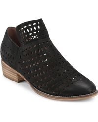 Seychelles - Loop Chopout Perforated Leather Booties - Lyst
