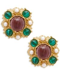 Ben-Amun - Crystal Multicolored Clip-on Earrings - Lyst