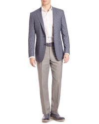 Saks Fifth Avenue - Samuelsohn Classic-fit Plaid Wool Sportcoat - Lyst