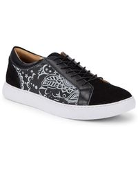Robert Graham - Graphic Leather Low-top Trainers - Lyst